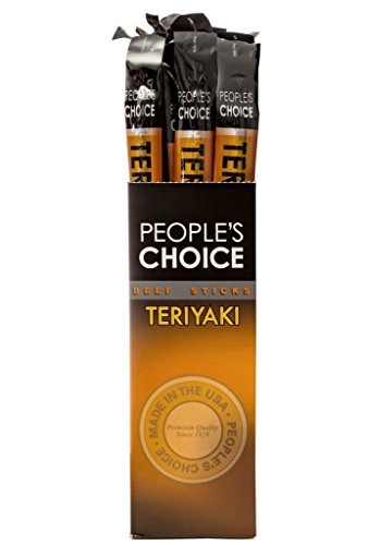 People's Choice Beef Jerky - Classic - Teriyaki Beef Stick - Gourmet Handmade Craft Meat Snack - 1.2 Ounce Stick (24 (American Classic Sticks)