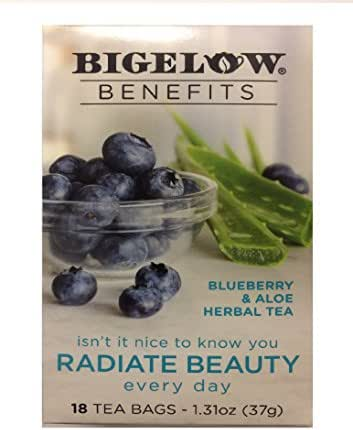 Bigelow Benefits Blueberry & Aloe Herbal Tea , Pack of 1