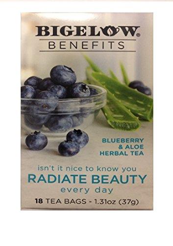 Bigelow Benefits Blueberry & Aloe Herbal Tea , Pack of -