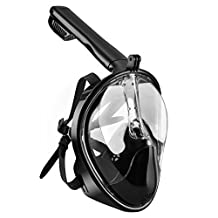 OMorc Snorkel Mask 180° Compatible Larger Viewing Full Face Diving Mask - Panoramic Full Face Design with Anti-Fog and Anti-Leak Technology for Scuba, Snorkelling, Diving, Scuba Diver, Deep Sea Diving, Swimming