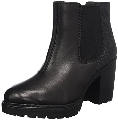 schwarz 36 Noir nero Noir Eu Femme Bottes Y7060 Chelsea Rieker wAqpB1U