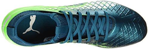 ag White Gecko Football deep Lagoon Future green Bleu Chaussures 3 De Fg Puma 18 Homme puma qfIwOg