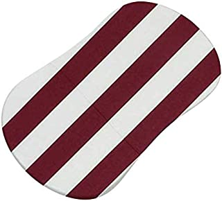 product image for SheetWorld Fitted 100% Cotton Percale Bassinet Sheet Fits Halo Bassinet Swivel Sleeper 17 x 30, Burgundy Stripe, Made in USA
