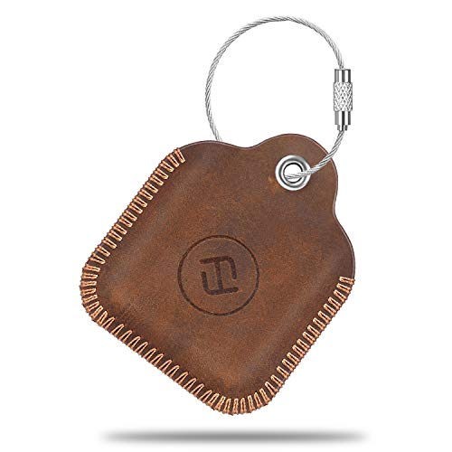 - Fintie Genuine Leather Case for Tile Mate 2016 2018, Tile Pro, Tile Sport, Tile Style Key Finder Phone Finder, Anti-Scratch Protective Skin Cover Accessories with Keychain, Brown