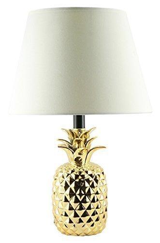 KANSTAR BL606 Ceramic Pineapple Gold Finish Table Lamp, 7