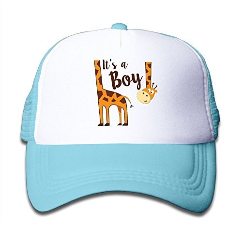 Animal Style Giraffe Head Pink Sunglass Kid's Trucker Caps Hat Adjustable - Custom Minimum No Sunglasses