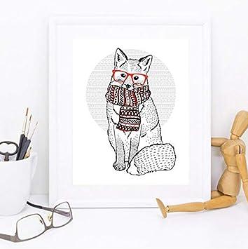 Yancong Wandkunst Print Poster Trendy Tiere Leinwand Malerei Bilder