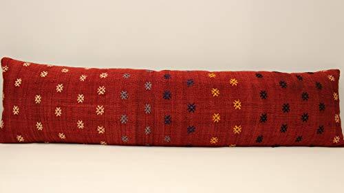 (King Size Kilim Lumbar Pillow 12x47 Home&Kitchen Throw Pillow Covers Bedding Pillow Covers boho pillow cover,pillows,rustic decor, turkish kilimpillow case home interior chair home decor sofa pillow)