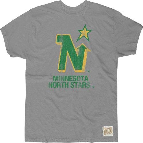 Original Retro Brand NHL Minnesota North Stars Men's Cotton Slub Tee, Small, - Star T-shirt Cotton All