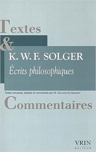 Livre gratuits Ecrits philosophiques pdf