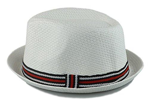 3ace8eef01296 How D Hats Men s Fedora Cuban Style Upturn Short Brim Hat - Import ...