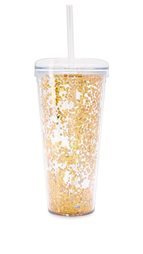 men's Confetti Tumbler, Gold Confetti, One Size (Inlaid Straw)