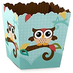 Owl - Party Mini Favor Boxes - Baby Shower or Birthday Party Treat Candy Boxes - Set of 12