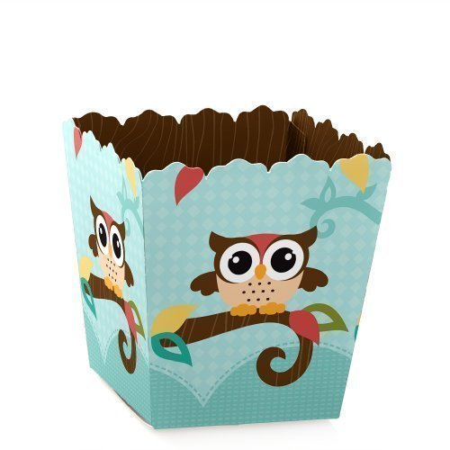 Owl - Party Mini Favor Boxes - Baby Shower or Birthday Party Treat Candy Boxes - Set of -
