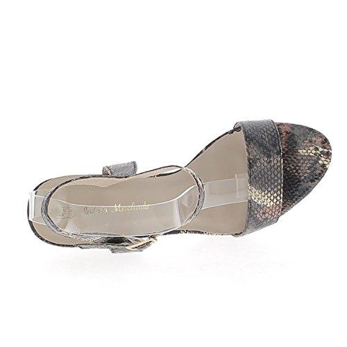Brown Sandalen Größe 15,5 cm zurückrufen um 4,5 cm Effekt Python-Plattform