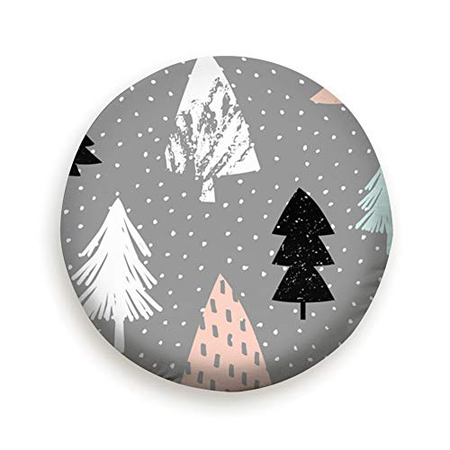 (AndrewTop Repeating D Christmas Trees Abstract Holidays Tire Cover Polyester Universal Spare Wheel Tire Cover Wheel Covers (14,15,16,17 Inch) 15 Inch)