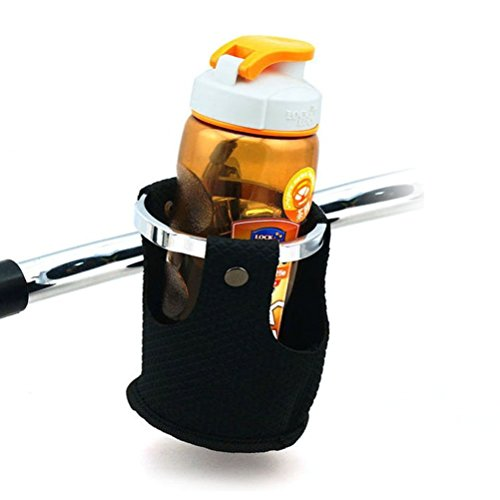 LEXIN® Motorcycle/Bike/motorbike Metal Cup Holder Handlebar Drink Cup Holder with Basket