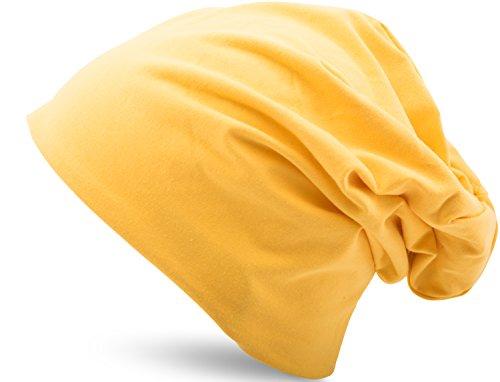 diferentes Gorra Heather colores Hombres Y Jersey elástico Gorro 35 en 3 Amarillo Mujeres Unisex Algodón Slouch Larga Ofqvvz
