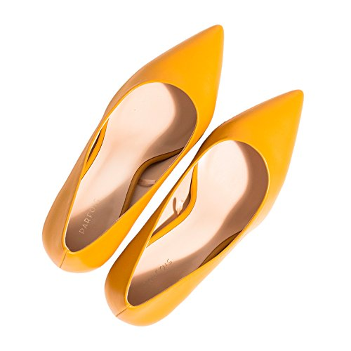 Parfois Stiletto Shoes - Women Mustard hRByEYN