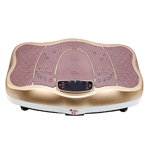 Power Vibration Plate, MASSE Standing Sports Slimming Fitness Machine 99 Speed with Bluetooth Music LCD Display, Oscillating Trainer Massage Body-Shaping Machine 150kg Load Capacity ,champagne ()