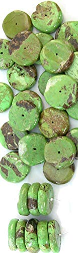 (Rare Gaspeite Big Freeform Focal Disc Beads (Package of 3 Beads))
