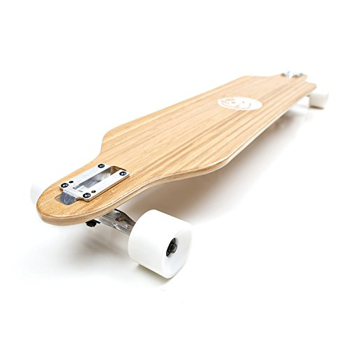 White Wave Bamboo Longboard Skateboard (Cruiser)
