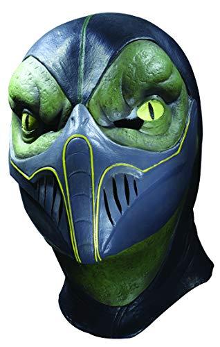 Rubie's Costume Men's Mortal Kombat Reptile Overhead Latex Mask, Multi, One Size]()