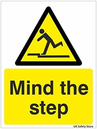 Mind the step Warning Sign