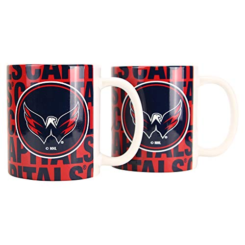 Boelter NHL 12oz Team Logo Coffee Mug 2-Pack (Washington Capitals (Hype))