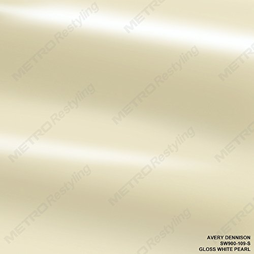 Avery SW900-109-S GLOSS WHITE PEARL 3in x 5in (SAMPLE SIZE) Supreme Vinyl Car Wrap (Avery Gloss)