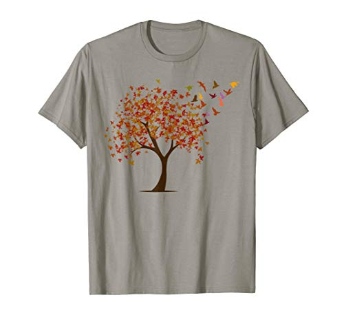 Oak Tree And Birds Cool Gift T-shirt For Nature Wild Lovers