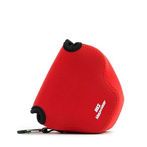 MegaGear 'Ultra Light' Neoprene Camera Case Bag with Carabiner for Canon PowerShot SX540 HS, SX530 HS, Canon PowerShot SX420 is, SX410 is Digital Cameras (Red)