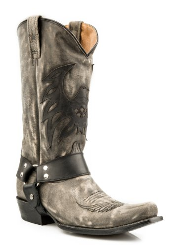 Roper Mens Americana Eagle Boot Svart