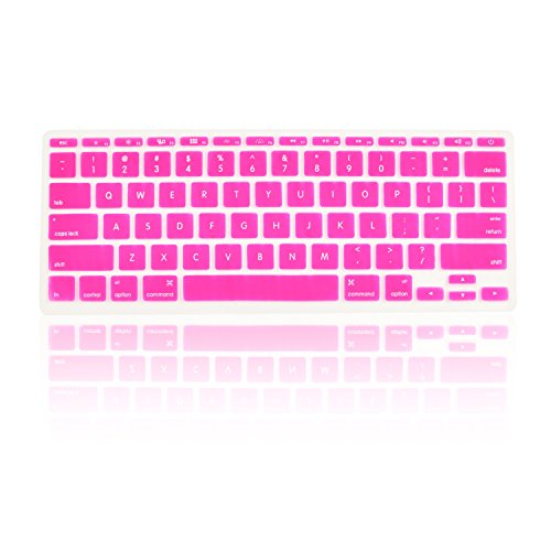 TopCase HOT PINK Keyboard Silicone Cover Skin for Macbook AIR 13 A1369 from Late 2010 - Mid 2011(JULY) with TOPCASE� Logo Mouse Pad