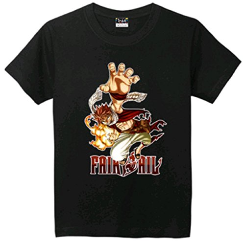 Fairy Tail T-shirt Tee (L (US M), Black)