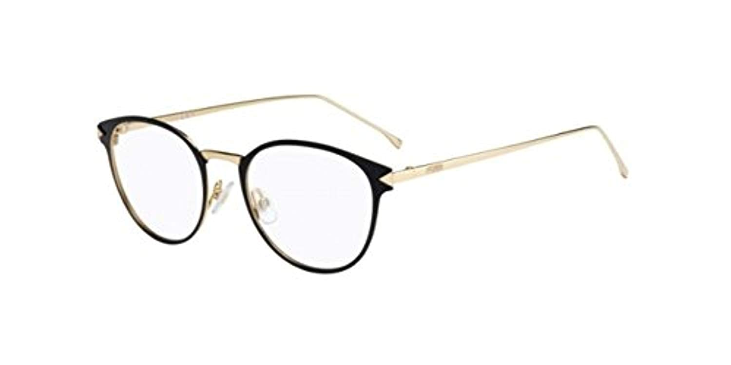 23e5b53e81c Amazon.com  FENDI Eyeglasses 0167 0F0G Black Gold  Clothing