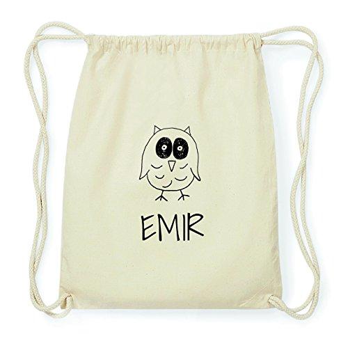JOllipets EMIR Hipster Turnbeutel Tasche Rucksack aus Baumwolle Design: Eule KXvEn59ac