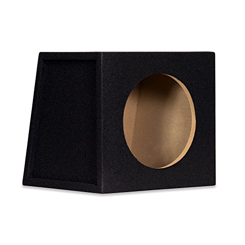 New Single Car Black Subwoofer Box Sealed Automotive Enclosure for 10