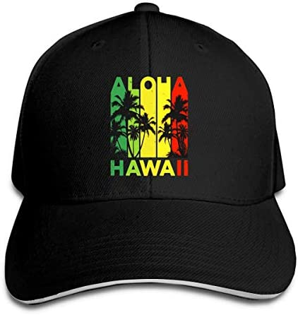Men Women Vintage Hawaiian Islands Tee Hawaii Aloha State Classic Outdoor Baseball Cap Adjustable Snapback Dad Trucker Hat Black