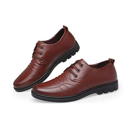 Stringate Business Pigre Brown NIUMT all'Usura da Scarpe Casual Pelle Scarpe Britannico Scarpe Traspirante Stile in Resistente Uomo nYgva0Yq