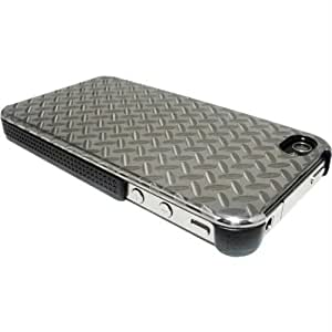 QDOS QD-7440-ST Steel Protective Case for iPhone 4 - 1 Pack - Retail Packaging-Carbon Gray