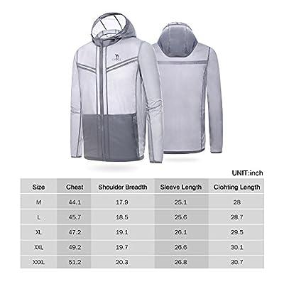 Camel Mens Lightweight Jacket Sun Protection Clothing Sportwear Water Repellent Zip Front Long Sleeve Windbreaker for Hiking Outdoor Sport