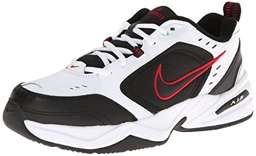 NIKE Men's Air Monarch IV (4E) Athletic Shoe, white/black, 14.0 Wide US