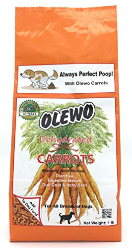 Olewo Dehydrated Carrots Dog Food Supplement