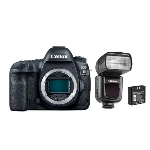 Canon EOS 5D Mark IV DSLR Body - With Flashpoint Zoom Li-on