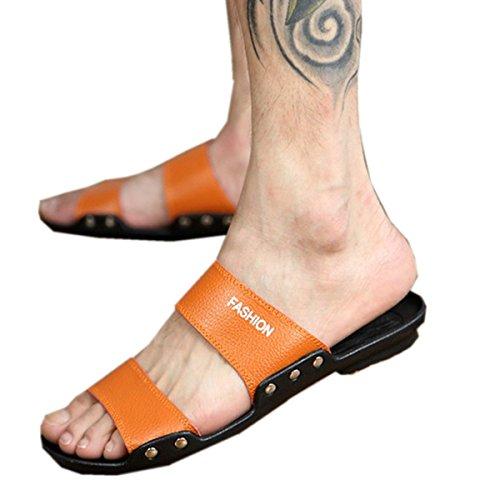 Bininbox Zapatillas Para Hombre, Sandalia Plana, Verano, Transpirable, Zapato, Punta Abierta, Tapeta, Bbrown