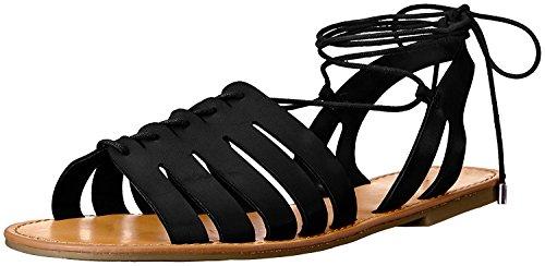 Indigo Rd. Women's Baku Gladiator Sandal, Black, 7.5 M US
