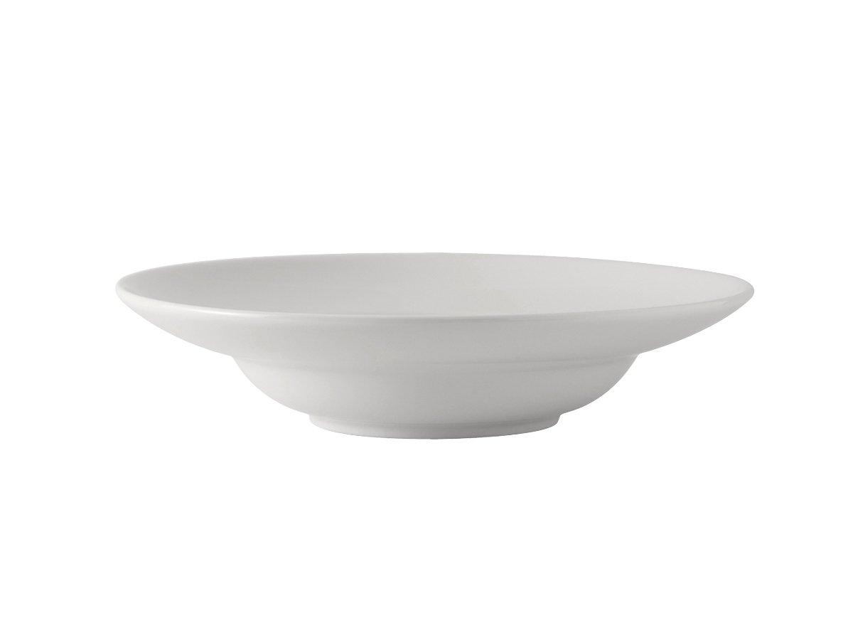 Tuxton BPD-1204 Vitrified China Pasta Bowl, 21 oz, 12'', Porcelain White (Pack of 12), Oven-Microwave-Pressure Cooker Safe; Freezer to Oven Safe