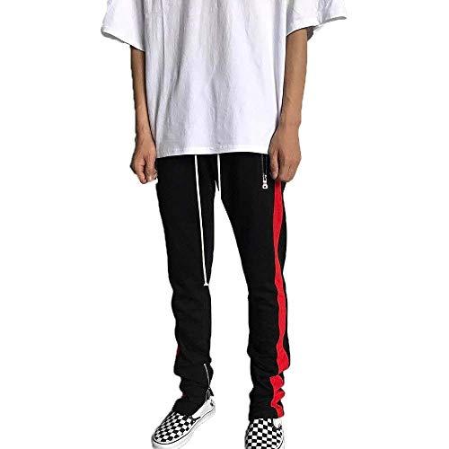 Sport Pantalon À Crystallly Style Avec Glissière De Jogging Hommes black Hip Pour Simple Fermeture Rot Décontracté Hop vqdqOz