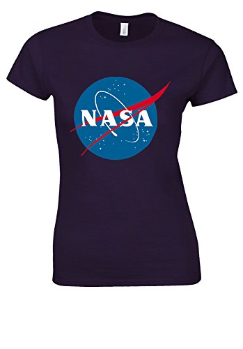 変な浅いただやるNasa National Space Administration Logo White Women T Shirt Top